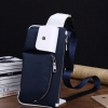 NY01-Blue กระเป๋าคาดอก กระเป๋าคาดเอว ผ้าไนลอน สีน้ำเงิน