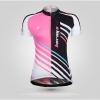 **สินค้าพรีออเดอร์** New เสื้อปั่นจักรยาน สีชมพูลายสวย เนื้อผ้าคุณภาพดี