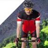 **สินค้าพรีออเดอร์**ชุดจักรยานคุณภาพดี Lambda (เสื้อแขนสั้น + กางเกงปั่นจักรยาน)