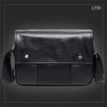 LT31 กระเป๋าสะพายข้าง หนัง PU สีดำ
