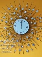 นาฬิกาติดผนัง ทรงพระอาทิตย์ รัศมีประดับพลอย รหัส HT0012