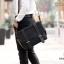 CV13-Black กระเป๋าสะพายข้าง ผ้าแคนวาส สีดำ thumbnail 2