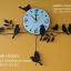 นาฬิกาติดผนังตกแต่งบ้าน สไตล์โมเดิร์น รูปนกเกาะกิ่งไม้ - HT0001 thumbnail 1