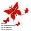 นาฬิกาแขวนผนังสไตล์โมเดิร์น รูปผีเสื้อแดง สวยเก๋ดูดีมีสไตล์ - HT0003 thumbnail 1