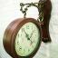 นาฬิกาติดผนัง 2 หน้า สีไม้ ดีไซน์หลุยส์ thumbnail 1