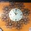 นาฬิกาติดผนัง รูปดอกไม้ประดับด้วยพลอย เดินเงียบไม่มีเสียง thumbnail 1