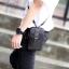 LT36-Black กระเป๋าร้อยเข็มขัด กระเป๋าคาดเข็มขัด หนัง PU สีดำ (มีสายสะพาย) thumbnail 3