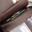 WS06-Brown กระเป๋าสตางค์ใบสั้น แนวนอน กระเป๋าสตางค์ผู้ชาย หนัง PU เกรดเอ สีน้ำตาล thumbnail 6