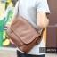 LT11-Brown กระเป๋าสะพายข้าง หนัง PU สีน้ำตาล thumbnail 15