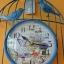 นาฬิกาแขวน Vintage รูปกรงนกติดผนัง สีฟ้า thumbnail 4