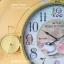 นาฬิกาติดผนังตกแต่งบ้าน Vintage รูปจักรยานสีเหลือง หน้าปัดใหญ่ thumbnail 3