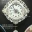 นาฬิกาแขวนผนังสไตล์วินเทจ ประดับดอกกุหลาบที่ตัวเรือน thumbnail 1
