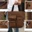 CV18-Brown กระเป๋าถือผู้ชาย + สะพายข้าง ผ้าแคนวาส สีน้ำตาล thumbnail 12