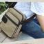 CV11-Khaki กระเป๋าสะพายข้าง ผ้าแคนวาส สีกากี thumbnail 1