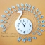 นาฬิกาติดผนัง รุ่นนกยูงเงินพลอยฟ้า thumbnail 1
