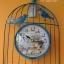 นาฬิกาแขวน Vintage รูปกรงนกติดผนัง สีฟ้า thumbnail 1