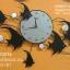 นาฬิกาติดผนังโมเดิร์น รูปปลาเทวดาประดับมุก thumbnail 1