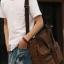 CV18-Brown กระเป๋าถือผู้ชาย + สะพายข้าง ผ้าแคนวาส สีน้ำตาล thumbnail 11