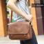 LT11-Brown กระเป๋าสะพายข้าง หนัง PU สีน้ำตาล thumbnail 6