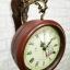 นาฬิกาติดผนัง 2 หน้า สีไม้ ดีไซน์หลุยส์ thumbnail 5