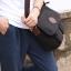 CV09-Black กระเป๋าสะพายข้าง ผ้าแคนวาส สีดำ thumbnail 3