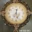 นาฬิกาติดผนังประดับบ้านสไตล์ยุโรป ประดับลวดลายกุหลาบทอง thumbnail 1