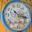 นาฬิกาแขวน Vintage รูปกรงนกติดผนัง สีฟ้า thumbnail 2