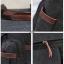 CV18-Brown กระเป๋าถือผู้ชาย + สะพายข้าง ผ้าแคนวาส สีน้ำตาล thumbnail 15