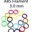 เส้นพลาสติก ABS Filament ขนาด 3.00 mm (1 kg / ม้วน) thumbnail 1