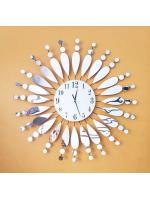 นาฬิกาติดผนัง Modern รุ่นใบไม้กระจก