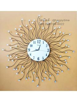 นาฬิกาติดผนังเก๋ๆ รุ่นรากไม้กลม
