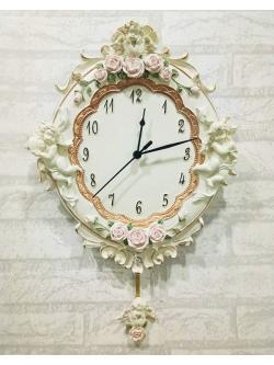 นาฬิกาเรซิ่นติดผนัง รุ่น HT0073-B สไตล์หลุยส์