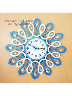 นาฬิกาติดผนัง รุ่นเกลียวฟ้าขาว ขนาด 60 CM.
