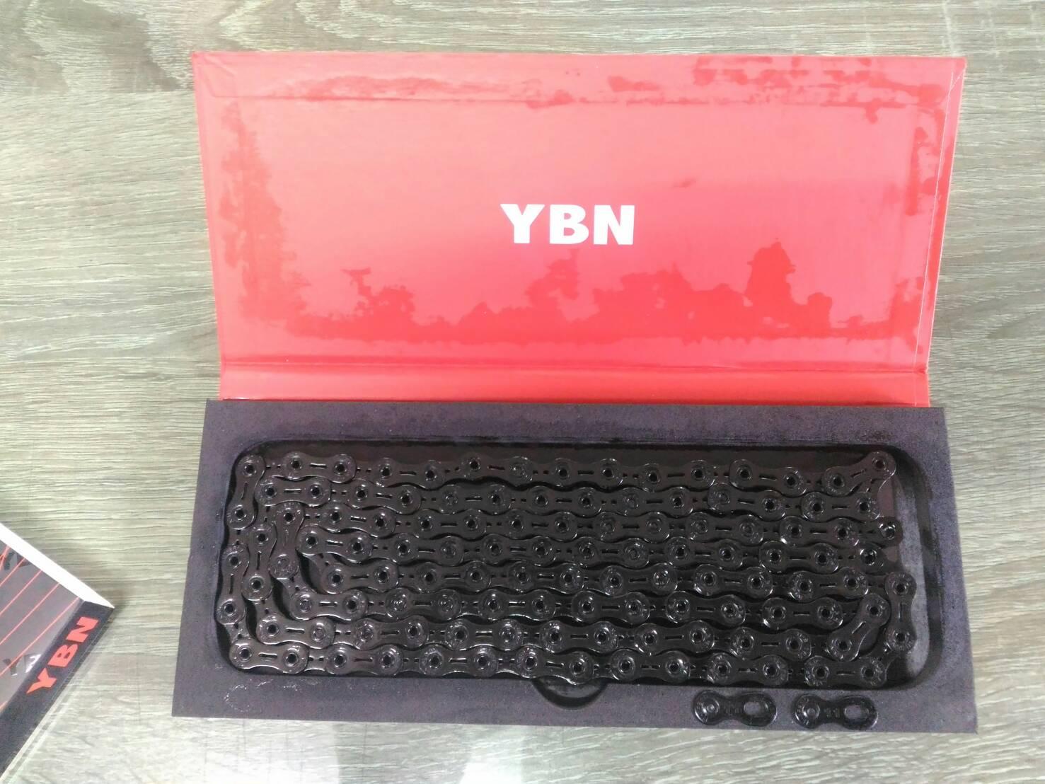 โซ่ YBN 11sp ไทเทเนี่ยน เซาะร่อง สีดำ