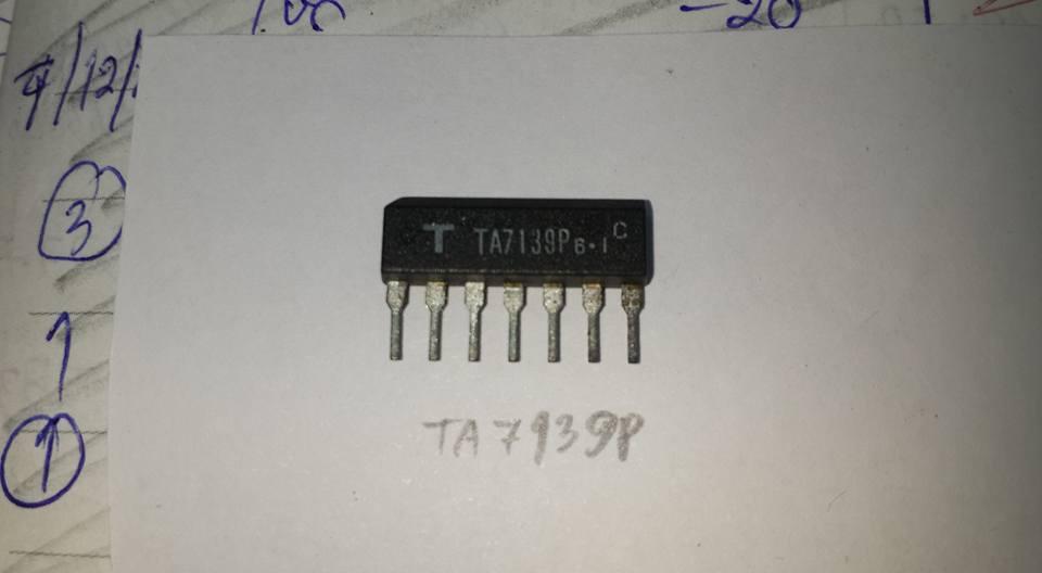 TA7139Pตัวถังขาหวีเรียงเหมือนนิ้ว7ขาSIP-7