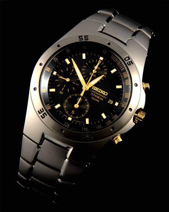 Seiko Titanium Chronograph Watch SND451P