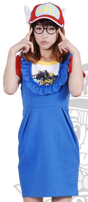 ชุดคอสเพลย์หญิงแฟชั่น Arale สีน้ำเงิน จากเรื่องดร.สลัมป์กับหนูน้อยอาราเล่ ครบเซท
