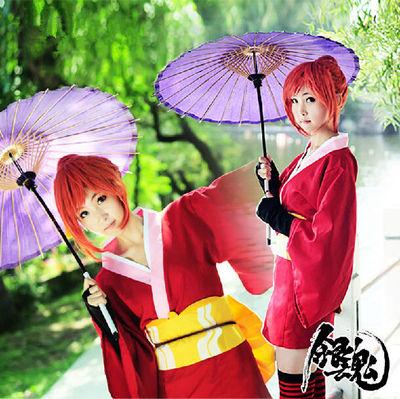 ชุดคอสเพลย์หญิงแฟชั่น Kagura Gintama เครื่องแบบกิโมโน