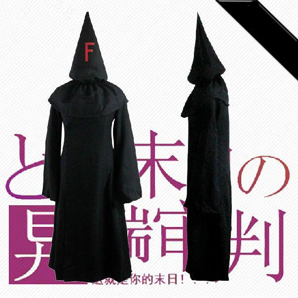 ชุดคอสเพลย์ชายแฟชั่น FFF กองกำลังซาตาน ชุดคลุมตัวยาว แขนยาว ครบเซท สีดำ แต่งฮู้ดแหลม