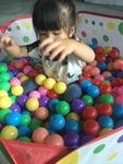 ลูกบอล พลาสติกอย่างดี คละสี 100 ชิ้น