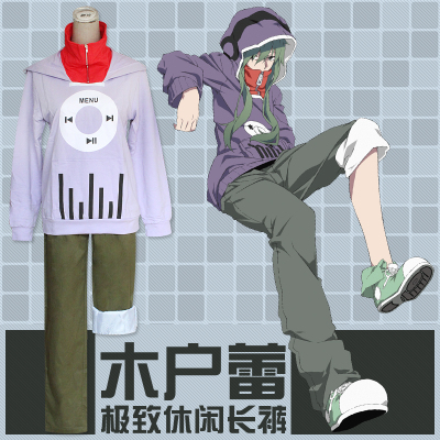 ชุดคอสเพลย์หญิงแฟชั่น Kagerou Project Kido แนวเสื้อคลุมแจ็คเก็ต
