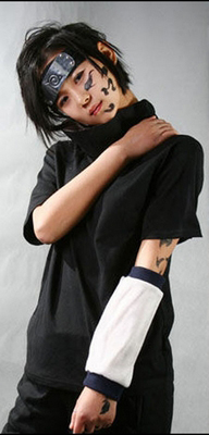 ชุดคอสเพลย์ชายแฟชั่น Naruto Uchiha Sasuke แนวนินจาชุดดำ
