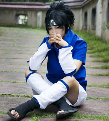 ชุดคอสเพลย์ชายแฟชั่น Naruto Uchiha Sasuke แนวนินจา ดีไซส์เท่
