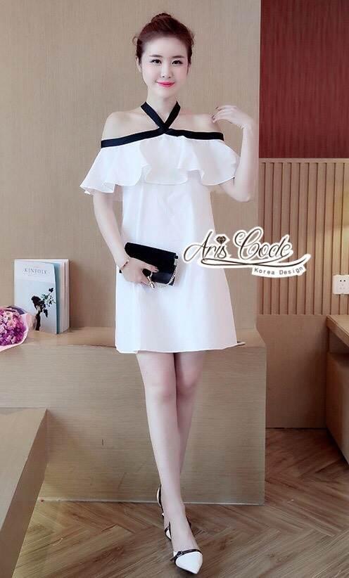 Aris Code Lovely Dress White Bow Tie