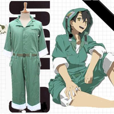 ชุดคอสเพลย์ชายแฟชั่น Kagerou Project Seto ชุดครบเซทสีเขียว มีฮู้ด แต่งขอบ