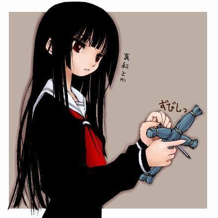 ชุดคอสเพลย์หญิงแฟชั่น เอ็นมะ ไอ สาวน้อยจากนรก Hell Girl แนวเครื่องแบบนักเรียนกิโมโน สีดำ