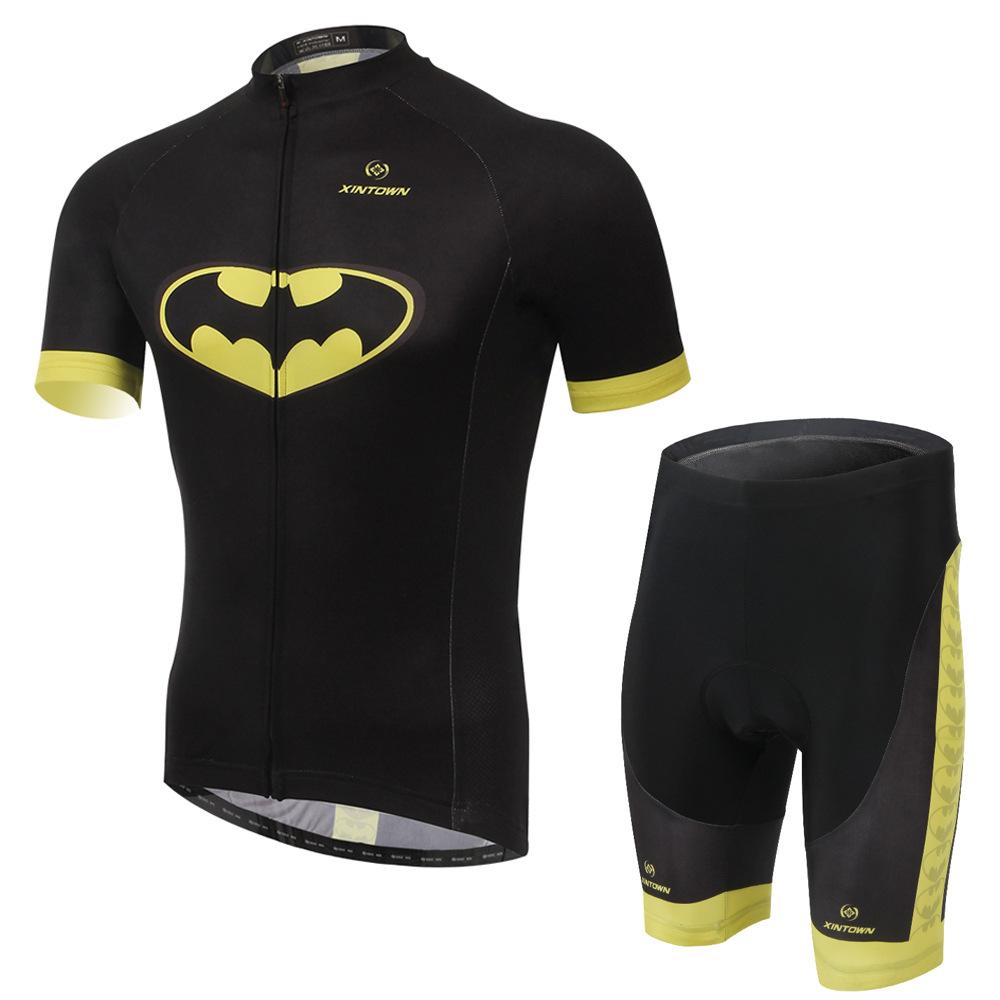 **สินค้าพรีออเดอร์**New 2015 ชุดปั่นจักรยาน batman เหลืองดำ สุดเท่ห์