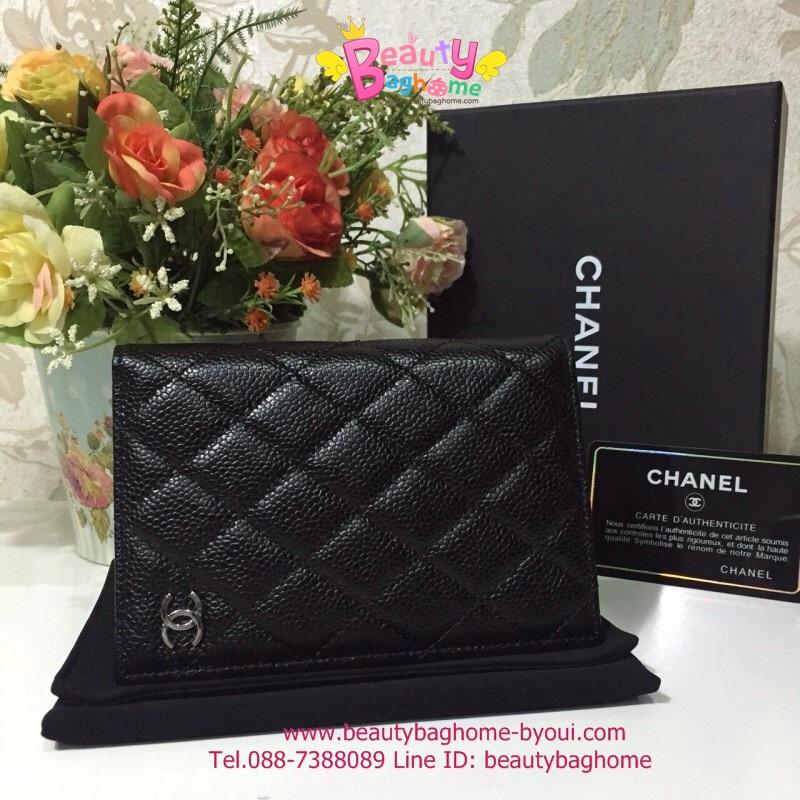Chanel Passport Holder สีดำ งานHiend