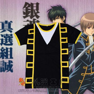 ชุดคอสเพลย์ชายแฟชั่น Gintama Shinsengumi แนวเสื้อยืด