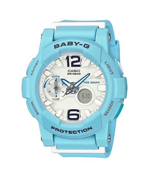 Casio Baby-G Beach Pastel Color series รุ่น BGA-180BE-2B